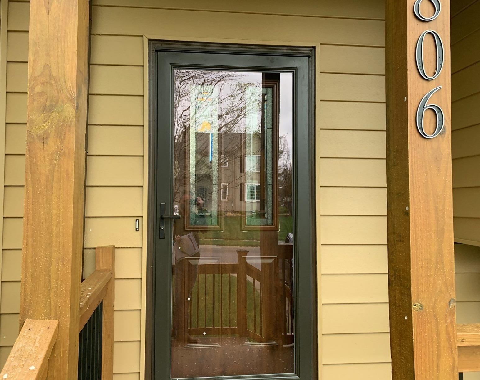 Entry Door and Storm Door Replaced at a Home in Shawnee, KS - After Photo