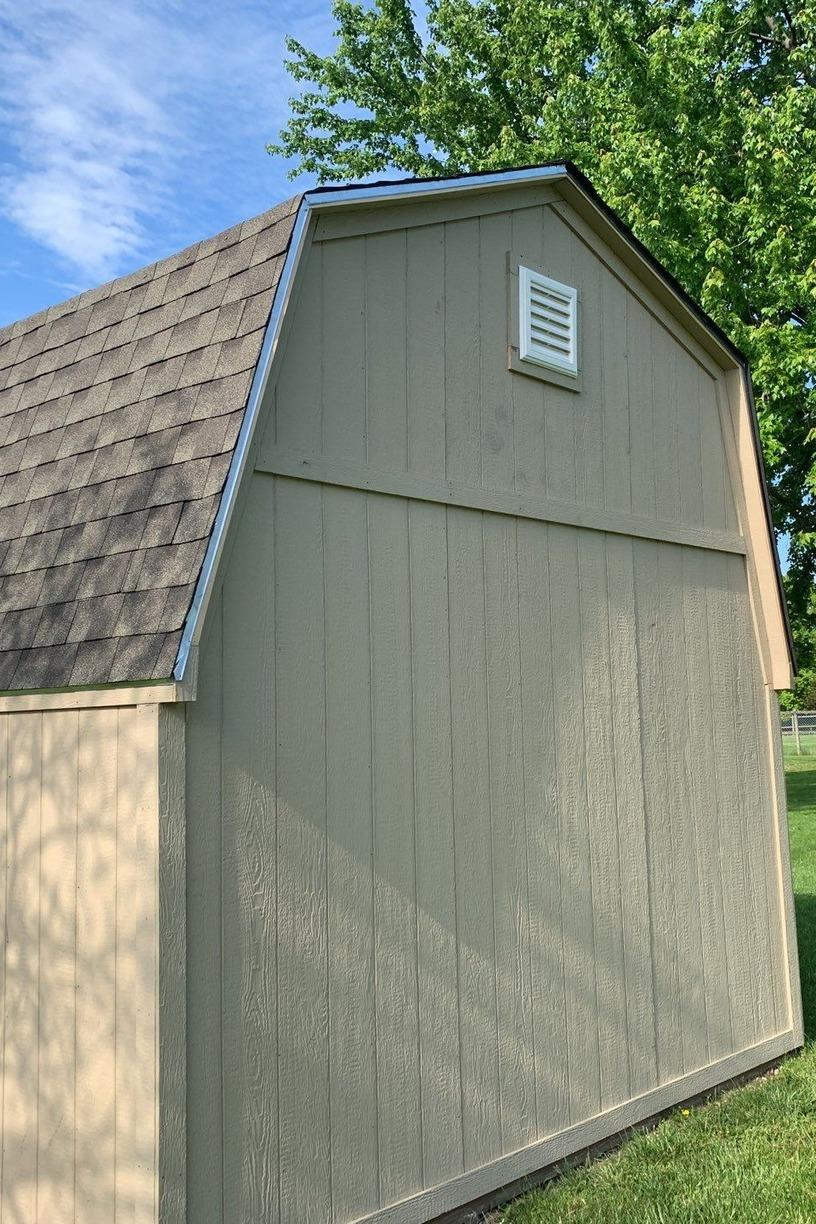 Roof Replacement and Siding on a Shed in Bucyrus, KS - After Photo