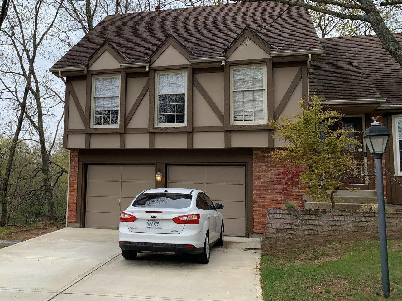 Exterior Paint and Gutters on Kansas City, MO Home - Before Photo