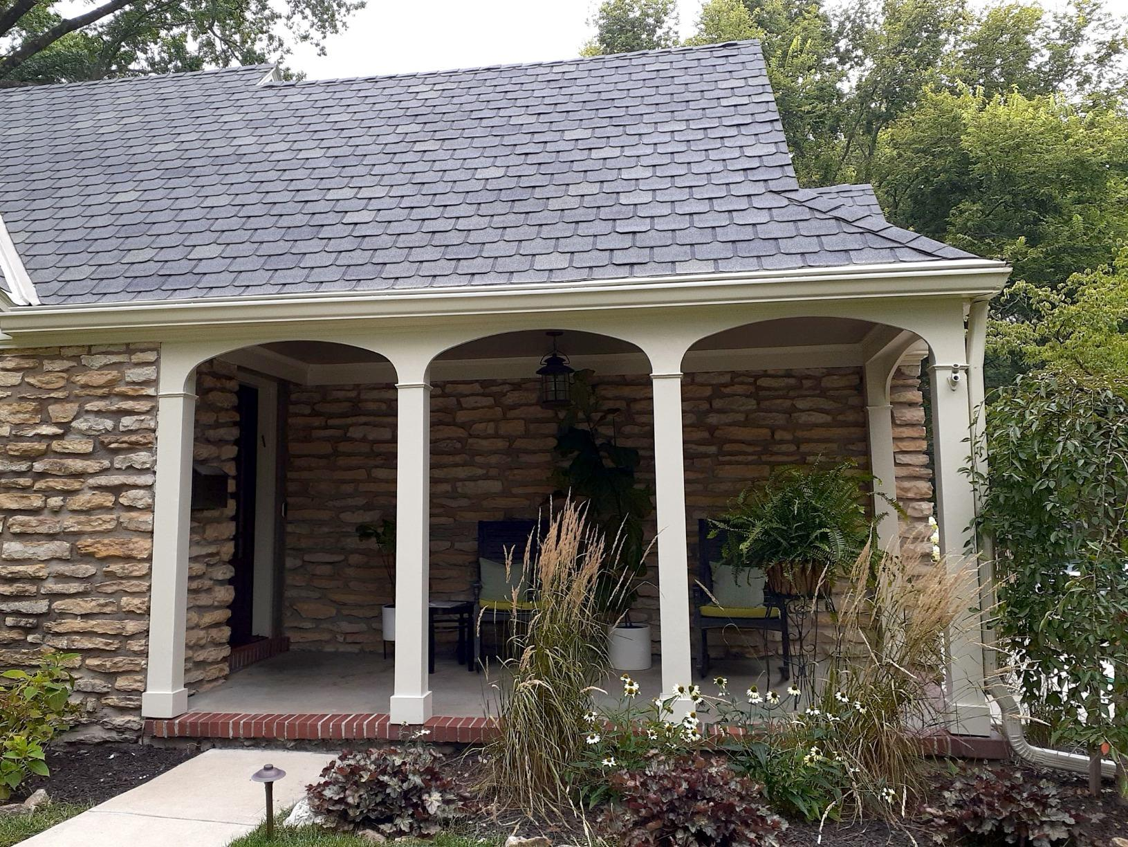 Gutter and Gutter Guard Installation on a Home in Leawood, KS - After Photo