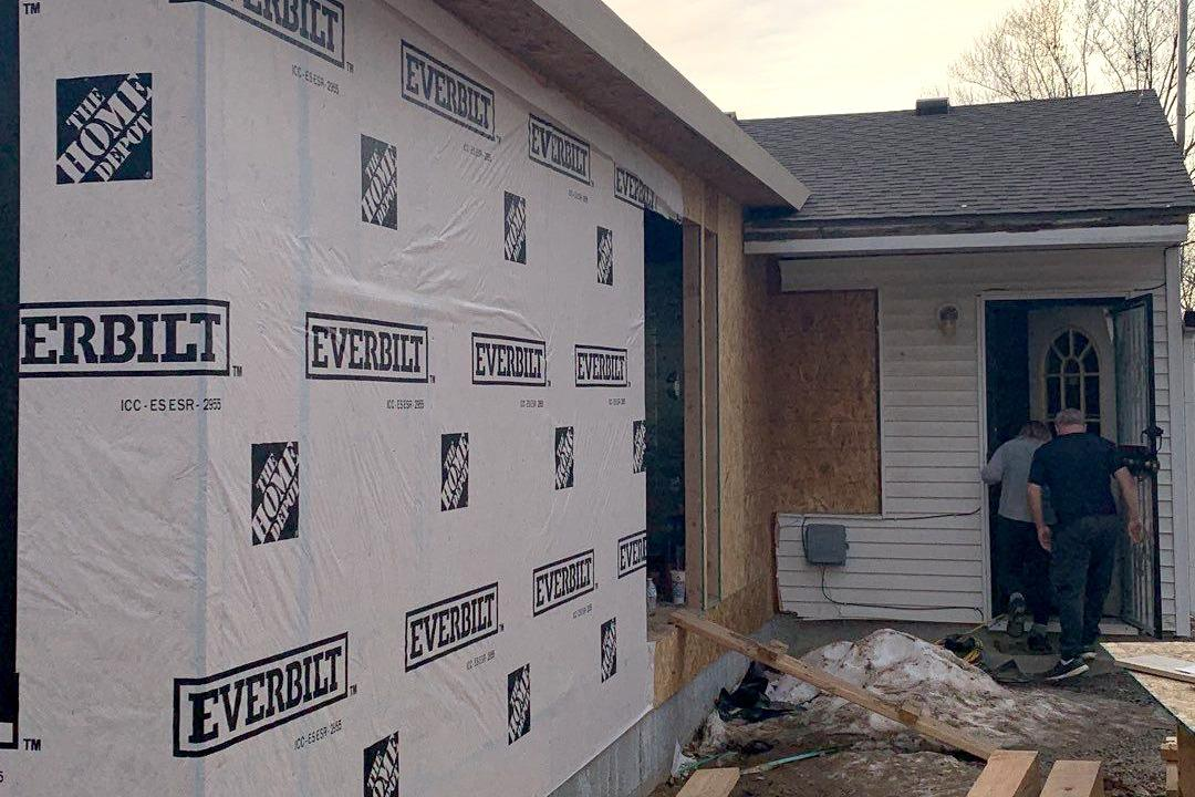 Addition being Built Showing the Framework at a Home in Kansas City, KS - After Photo