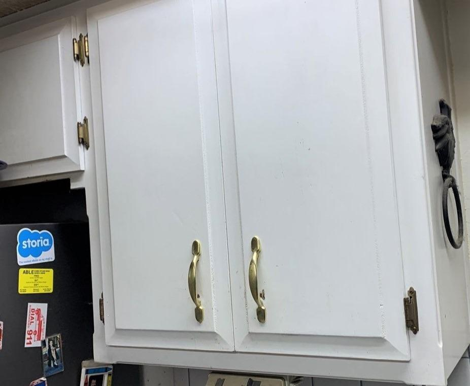 Grey Painted Kitchen Cabinets in Kansas City, MO - Before Photo