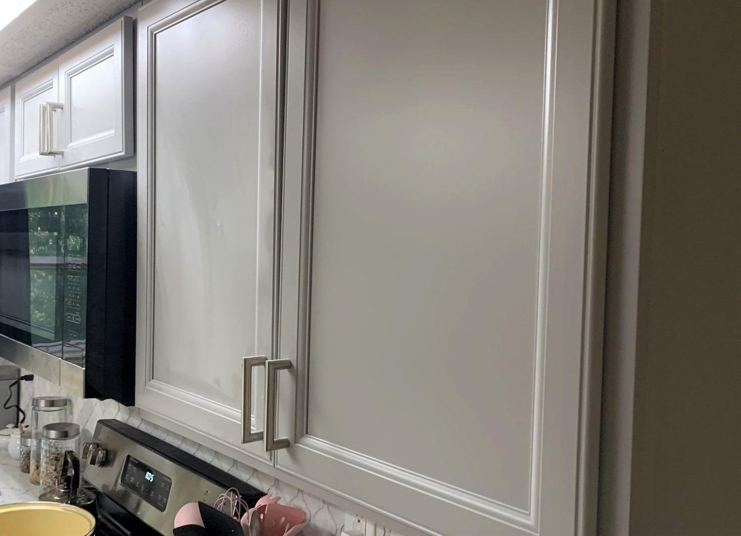 Grey Painted Kitchen Cabinets in Kansas City, MO - After Photo
