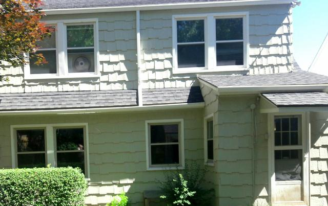 Kansas City, MO Home with New Aluminum Seamless Gutters - Before Photo