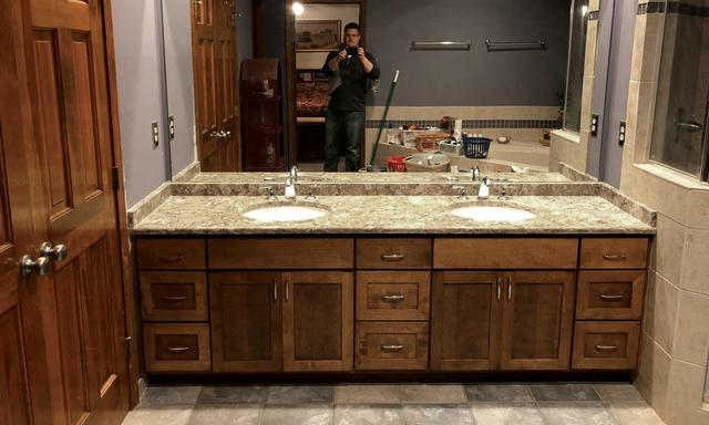 Lee's Summit Home Gets a Double Sink and Quartz Vanity Top