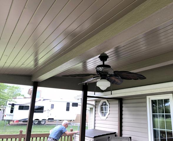 Deck Ceiling Enhancement in Basehor, KS