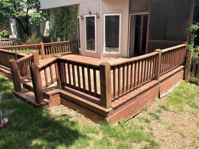 Deck Stained Before and After Photos in Olathe, KS - Before Photo
