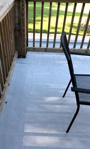 Flat Roof Repair on a Balcony Patio for Olathe, KS