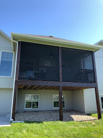 Stained Deck at Olathe, KS Home - After Photo