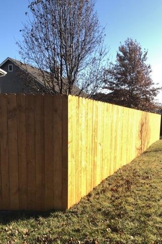 Gardner, KS Home gets New Privacy Fence - After Photo