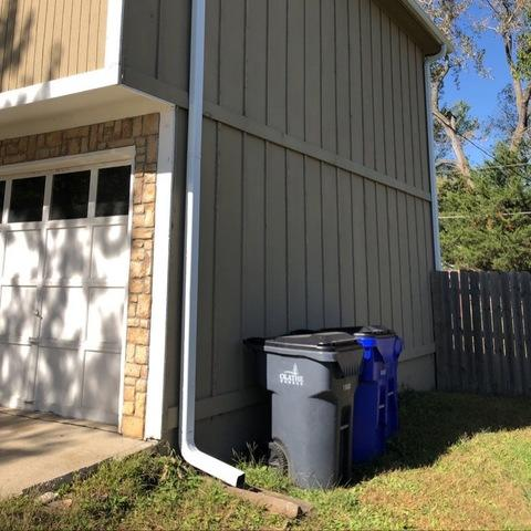 Gutters and Downspouts Installed on Olathe, KS Home