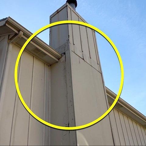 Vinyl Siding Installed on Chimney at Shawnee, KS Home