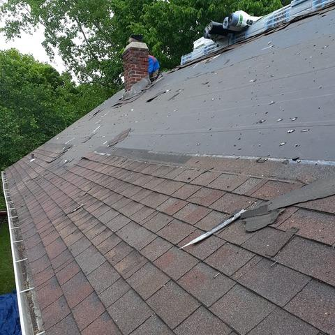 New Flashing, Roof Vents, Shingles and Gutters on Kansas City, MO Home