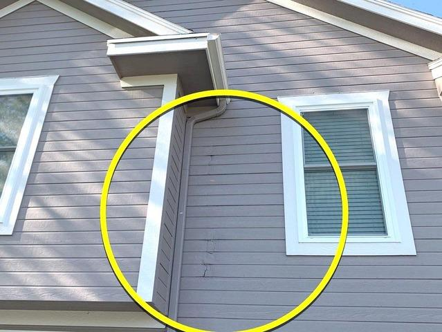 Siding Repair using LP SmartSide at a Home in Smithville, MO - Before Photo