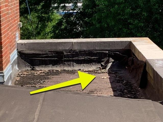 Flat Roof Repair at Hogan Prep Academy in Kansas City, MO - Before Photo