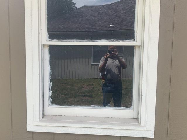 Window Replacement in Kansas City, MO (Double Hung Vinylmax Edison) - Before Photo