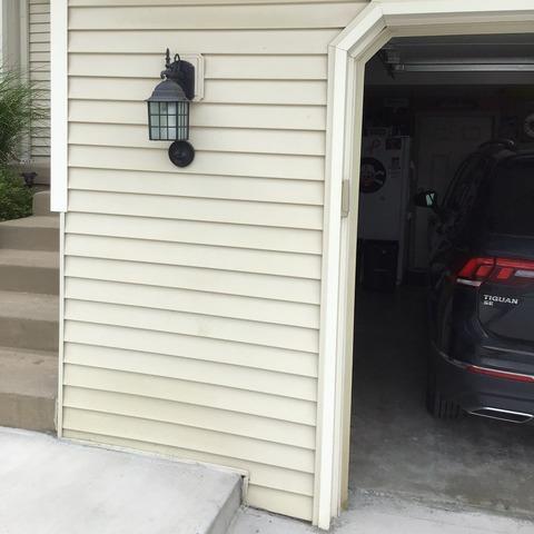 Vinyl Siding Installed on Two Car Garage in Kansas City, MO