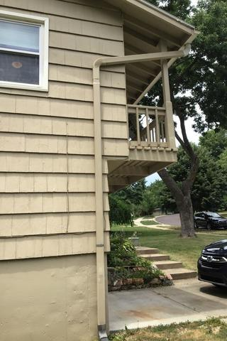 Gutters, Elbows and Downspouts Installed on Home in Overland Park, KS