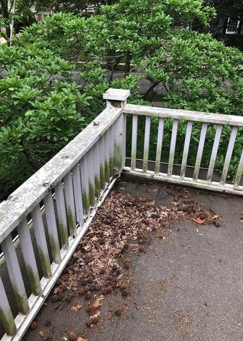 Railings & Posts on Balcony Installed on Kansas City, MO Home - Before Photo