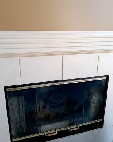 Interior Repair Above Fireplace at a Home in Shawnee, KS