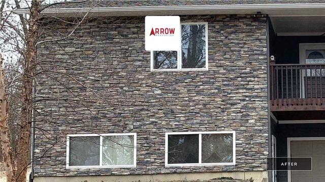 Stone Concrete Veneer Siding and Window Trim in Lane, KS