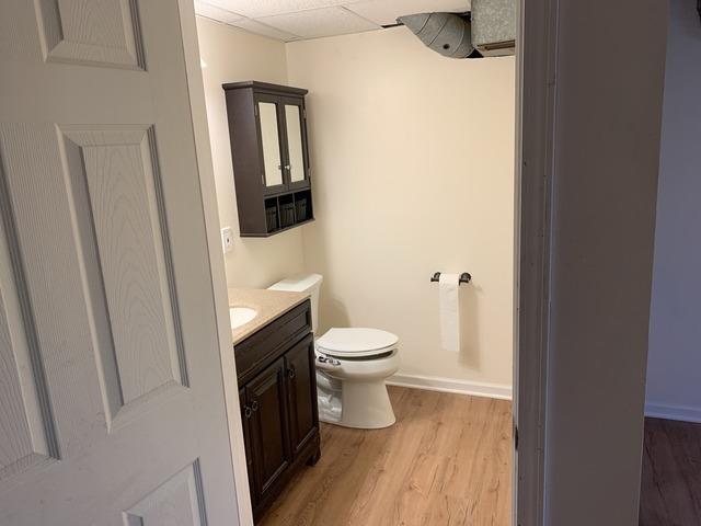 Bathroom (half bath) Built in the Basement of a Home in Leavenworth, KS