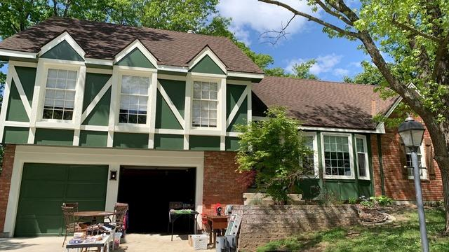 Gutters, Trim and New Paint on a Home in Kansas City, MO