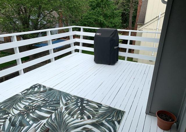 Power Washed and Painted the Top Deck in Lenexa, KS