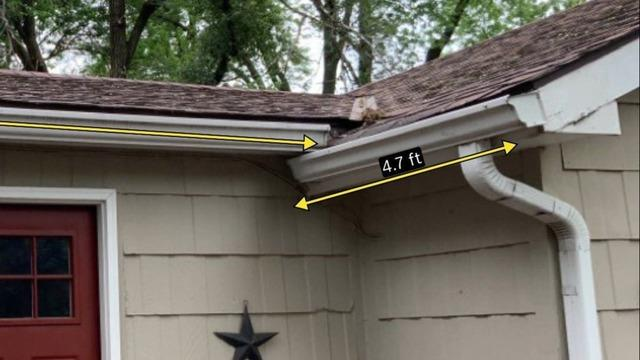 Gutters and Downspouts Installed on North Side of Spring Hill, KS Home