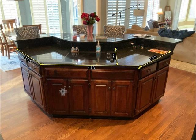 Island Built to Update the Old Style in a Kitchen in Leawood, KS