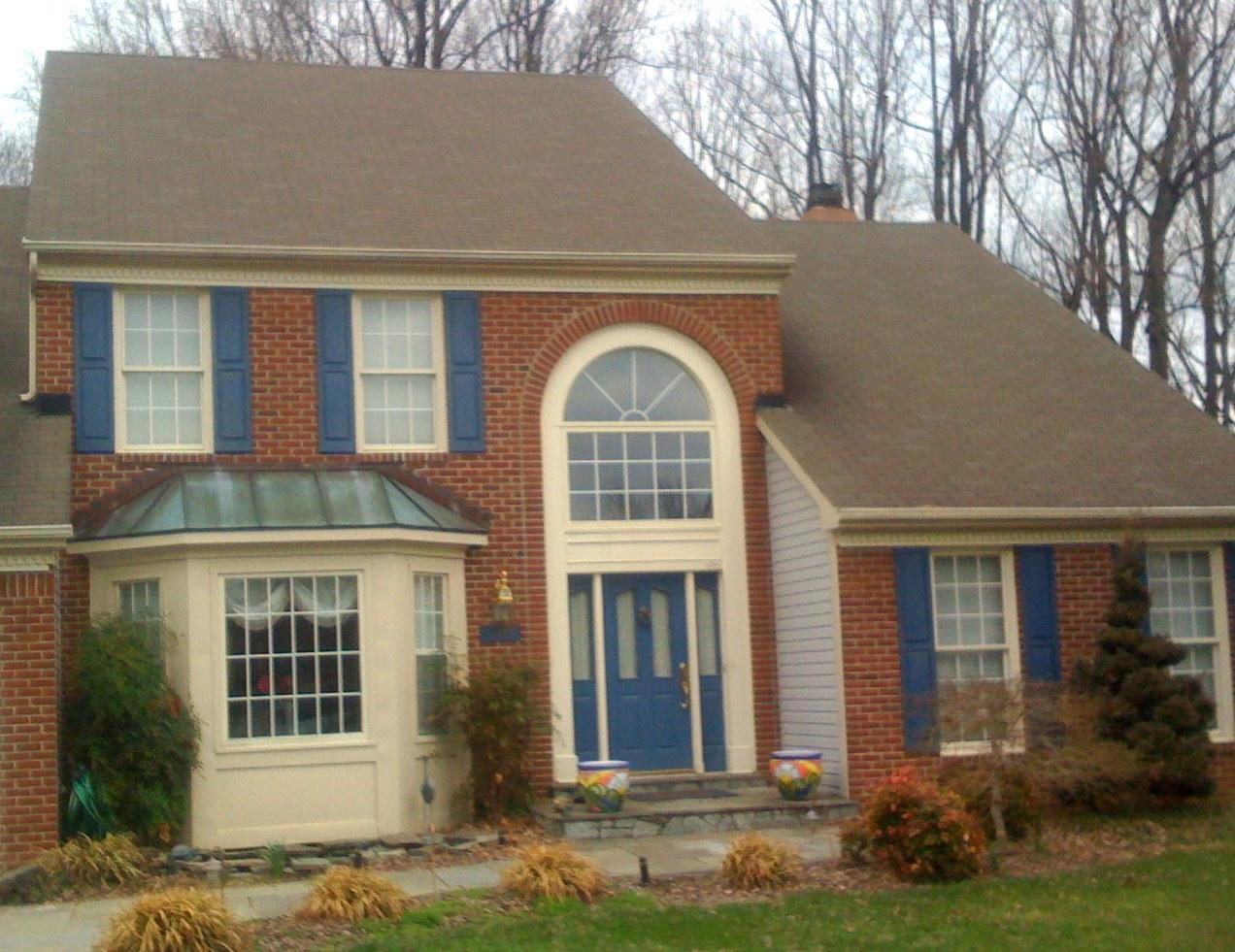 Front Portico in Laurel, MD - Before Photo
