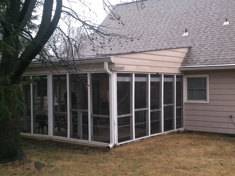Sunroom Addition in Nottingham, MD - Before Photo