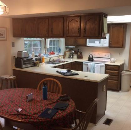 Dark & Cramped to Bright White Kitchen in Jessup, MD