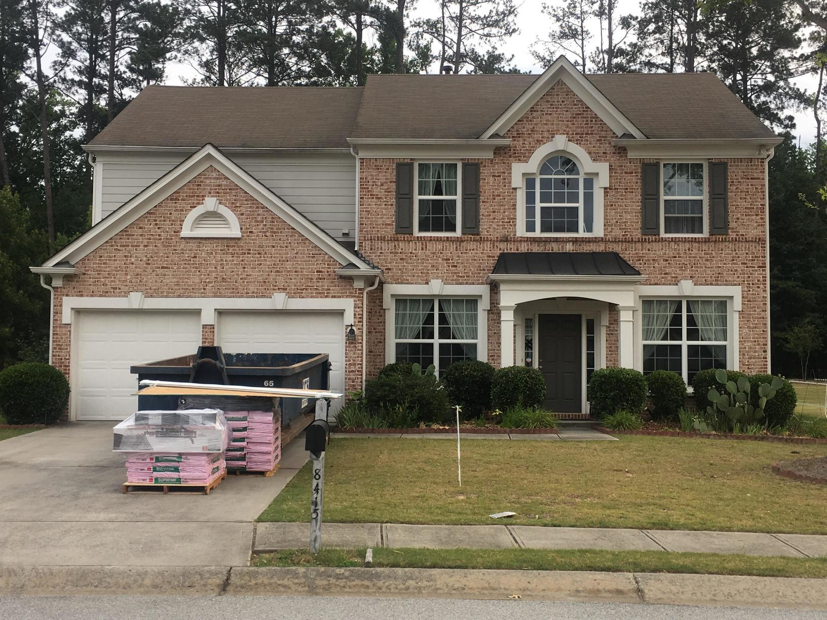 Insurance Claim Roof Replacement - Hail damage in Suwanee - Before Photo