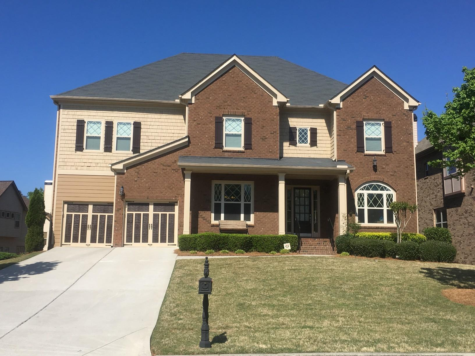 Insurance Claim - Roof replacement and Exterior Painting Project in Suwanee, GA - Before Photo