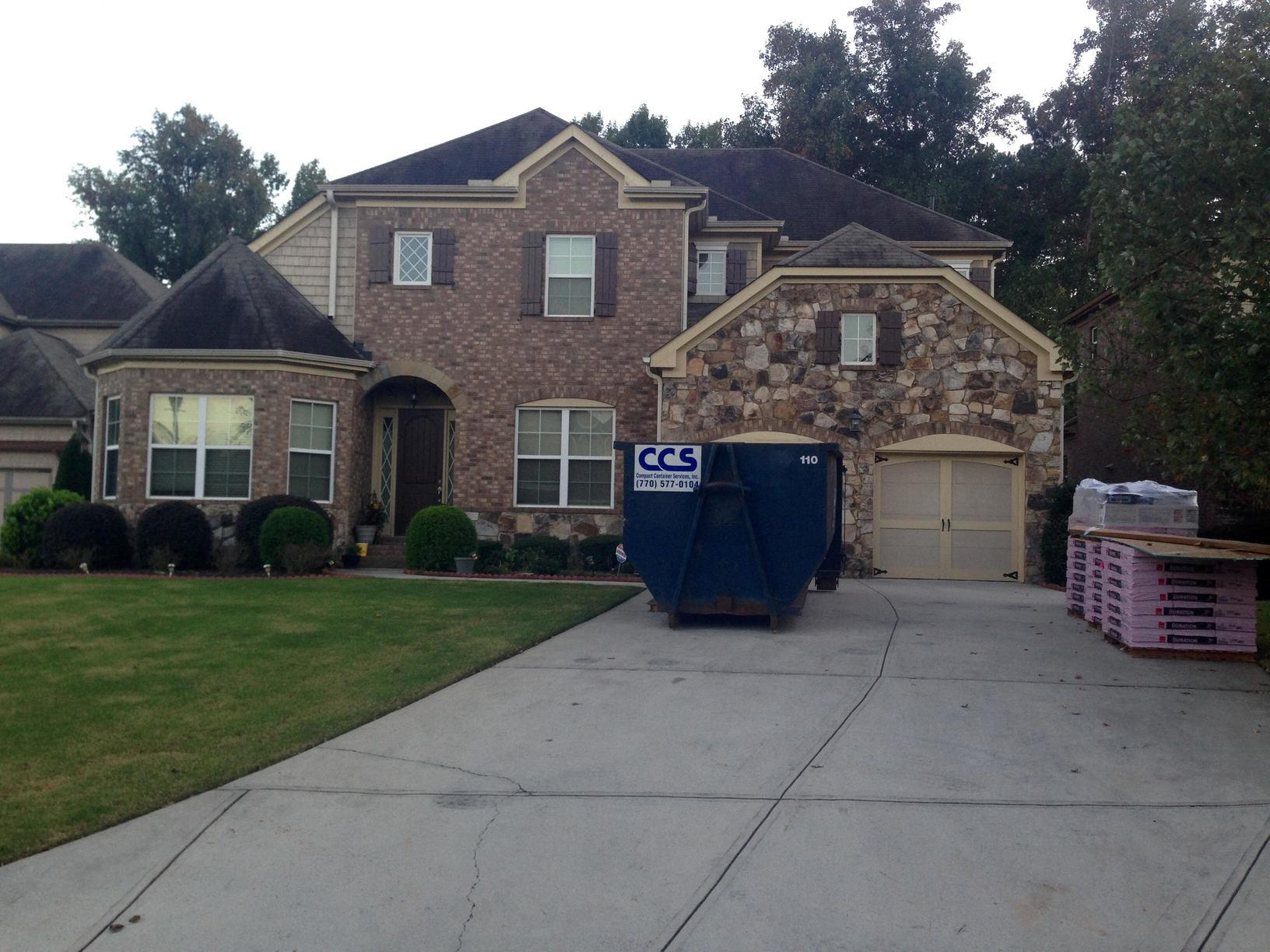 Insurance Claim - Roof and Gutter/Gutter Guard System Replacement in Suwanee, GA - Before Photo