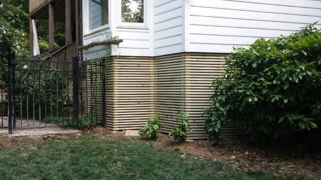 Lattice Fence Installation