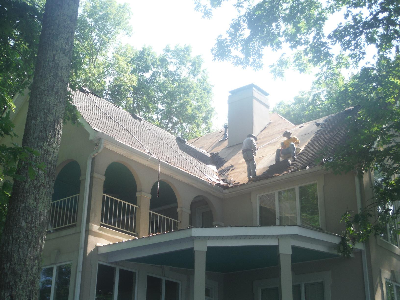 Roof Installation in Morganton, GA - Before Photo