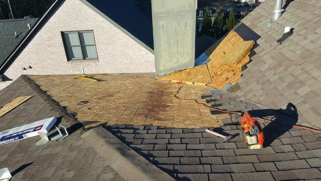 Roof Repair in Kennesaw, GA - Before Photo