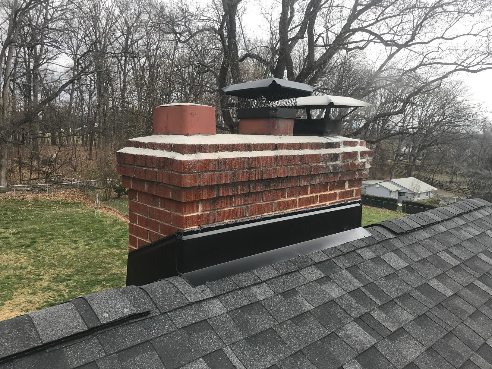 Chimney Flashing Replacement - After Photo
