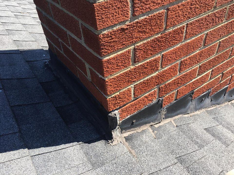 Replace Chimney Flashing - Before Photo