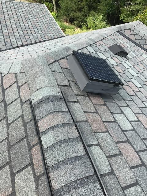 Lightning Damage Repair - After Photo