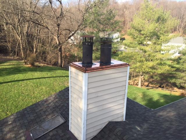 Copper Chimney Cap Replacement in Roanoke, VA - After Photo