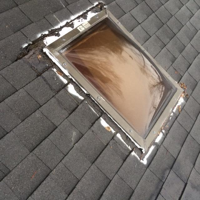 Skylight Replacement in Blue Ridge - Before Photo