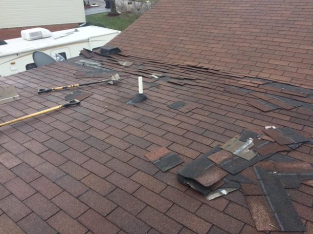 Improper Installation Causes Leak on Roanoke Home - Before Photo