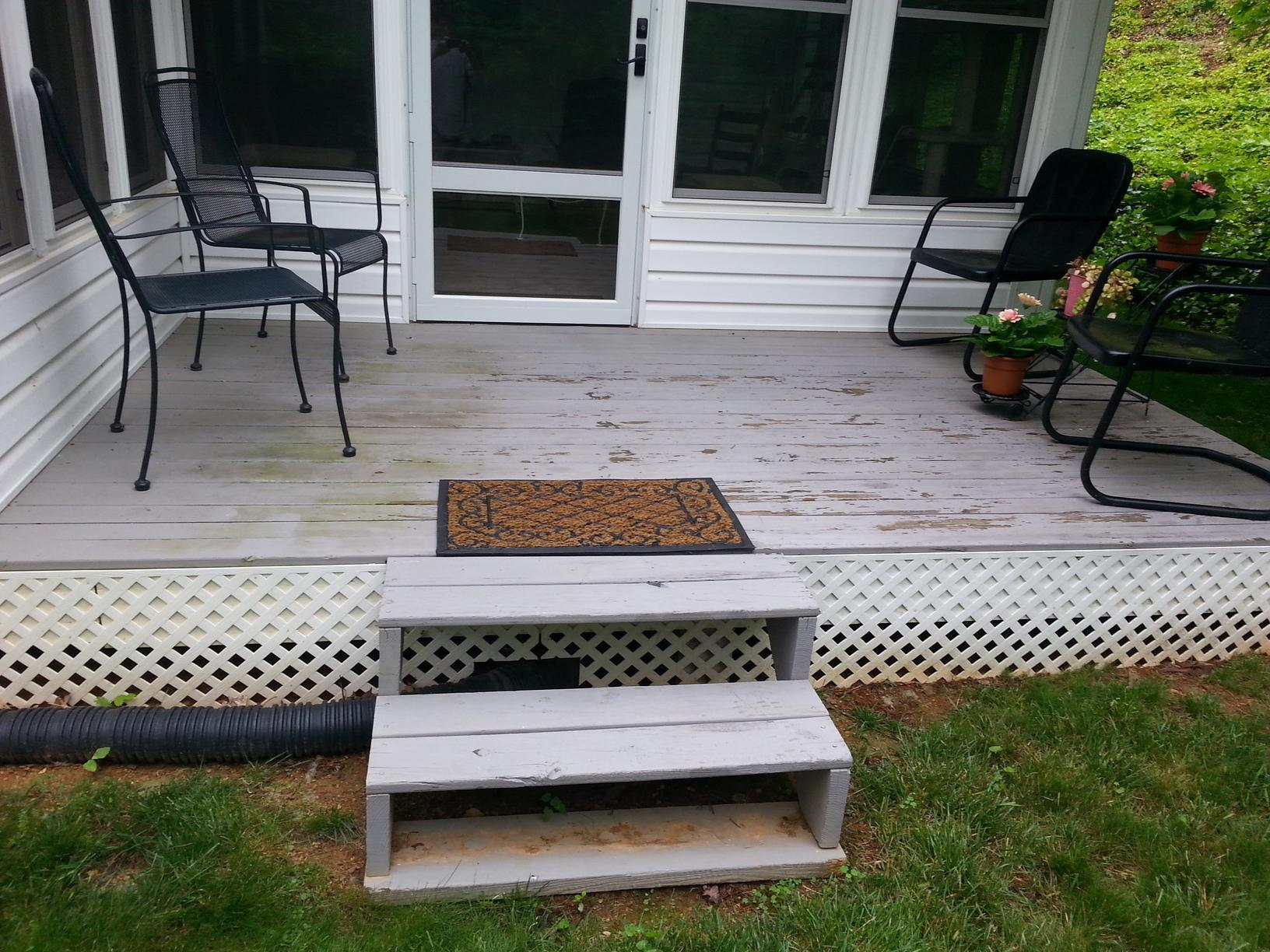 Porch Replacement in Cave Spring - Before Photo