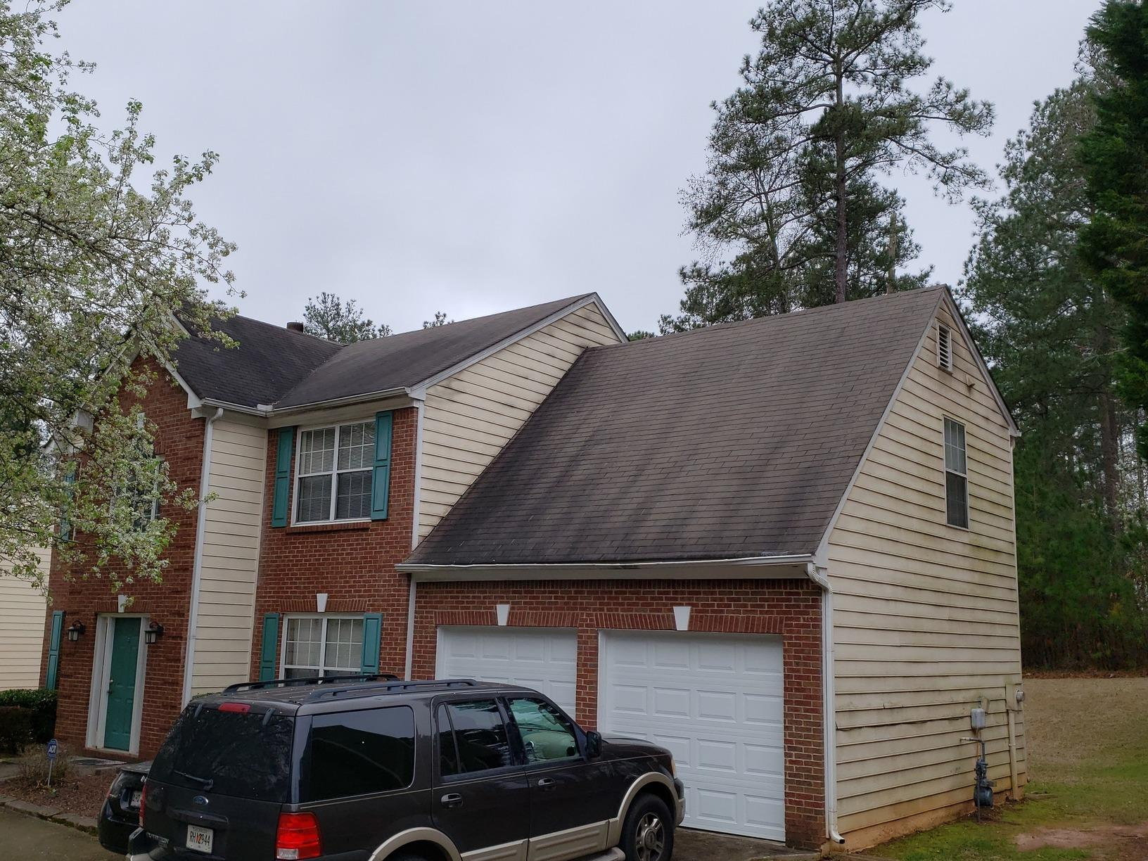 Roof and gutter replacement in Marietta, GA - Before Photo