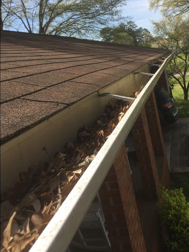 Gutter protection installed in Palmetto, GA - Before Photo
