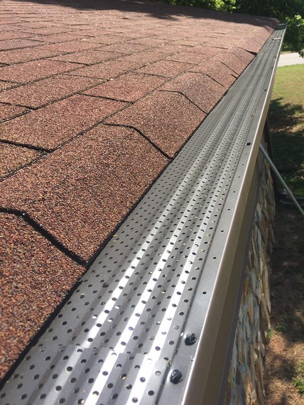 Gutter protection installed in Stockbridge, GA - After Photo