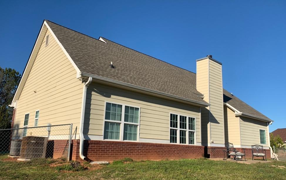 Hardie Siding replacement in McDonough, GA - Before Photo